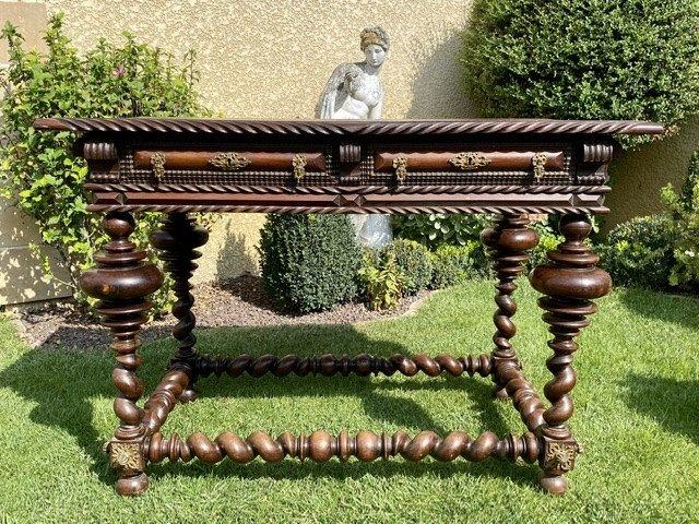 XVIIIe - Table Portugaise en Palissandre & Bronze