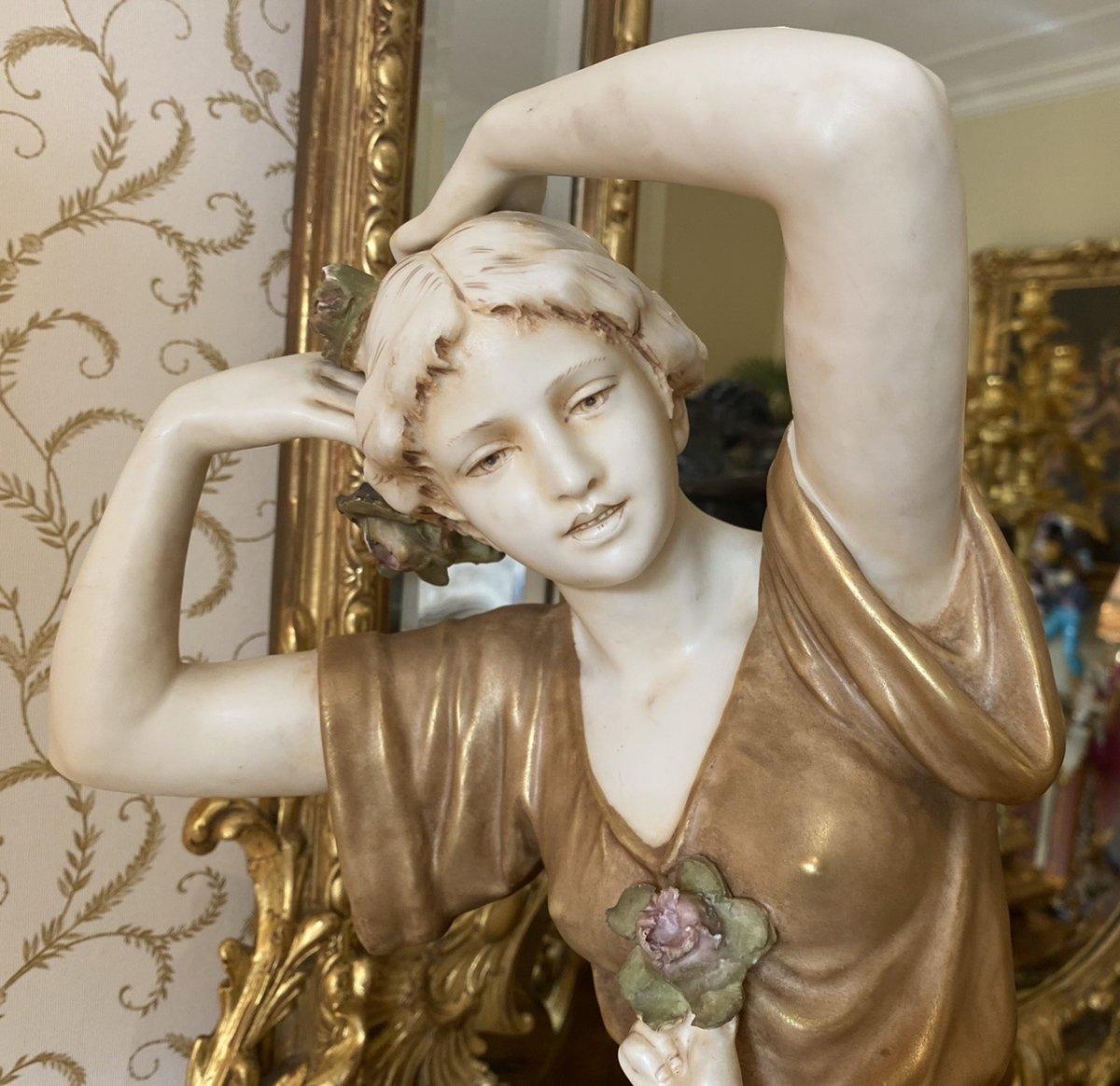 Royal Dux Bohemia - Porcelain Group-photo-3