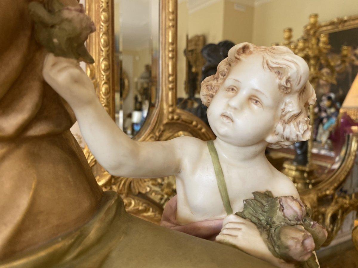 Royal Dux Bohemia - Porcelain Group-photo-7