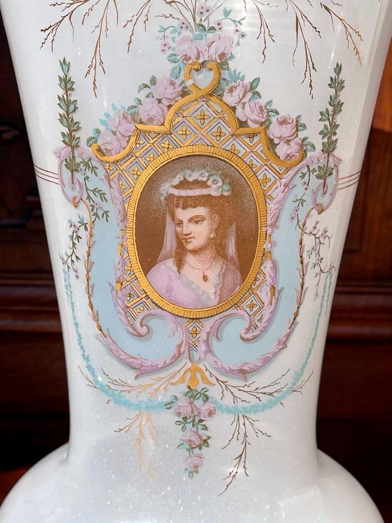 Vase en Opaline D'époque Napoléon III - XIXe-photo-3