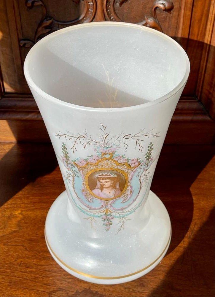 Vase en Opaline D'époque Napoléon III - XIXe-photo-4