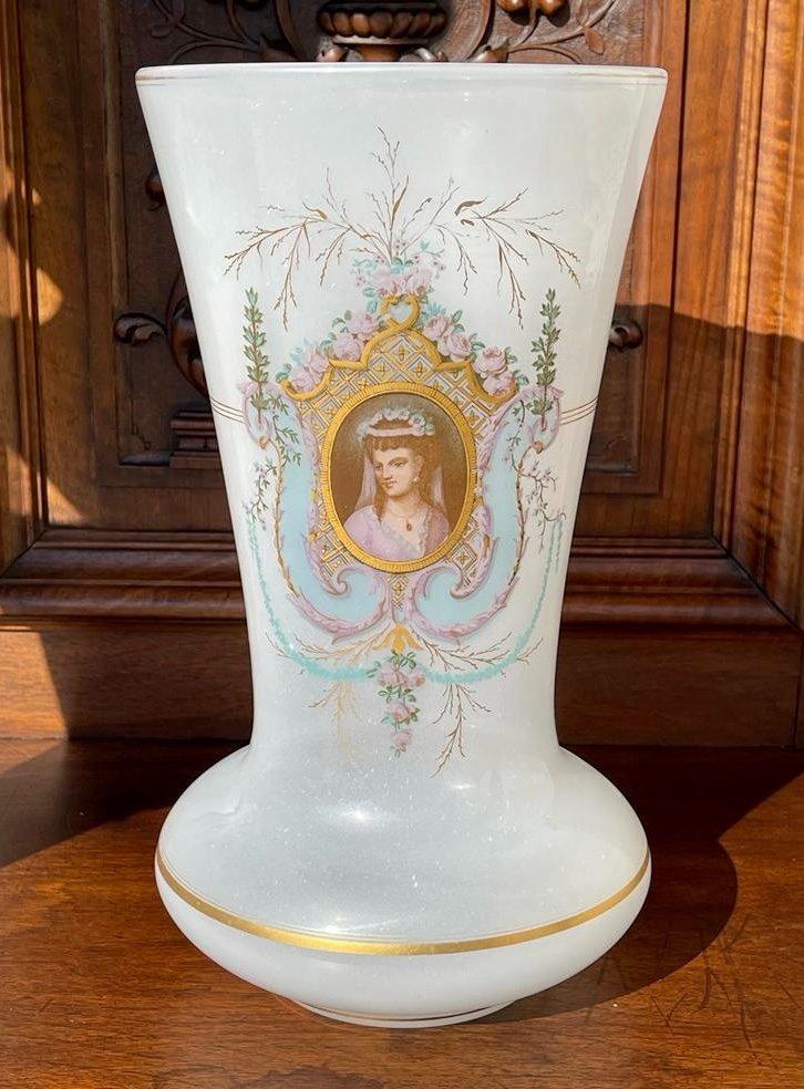 Vase en Opaline D'époque Napoléon III - XIXe