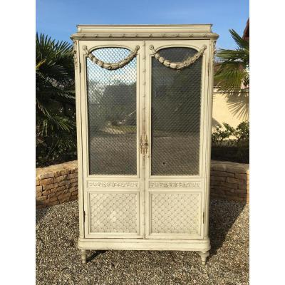 Lacquered Armoire Style Louis XVI