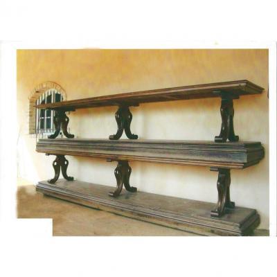 Pair Of Solid Mahogany Drape Tables