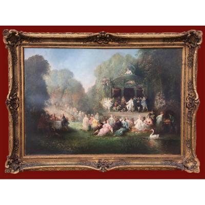 """P. DENARIE (1859-1942) - """"La Fête chez Thérèse"""" de Victor Hugo"""