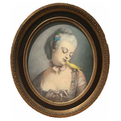 Pastel - Portrait Of Madame Du Barry