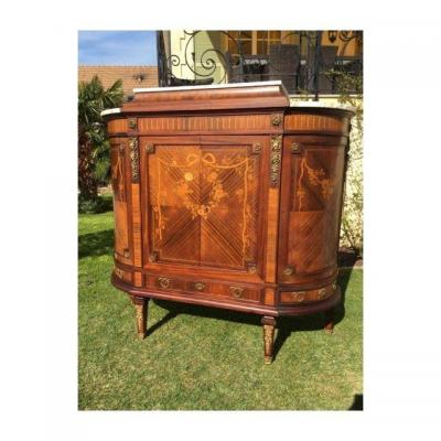 Grand Buffet / Armoire Marqueterie & Bronze Style Louis XVI