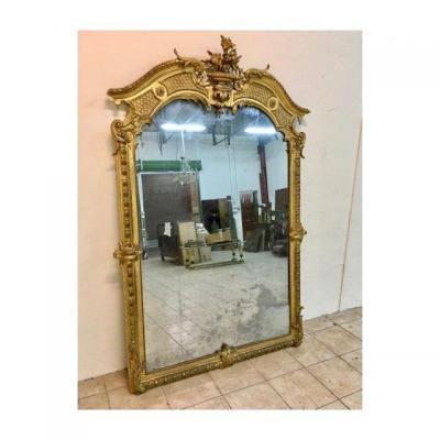 Grand Miroir Doré - XIXe