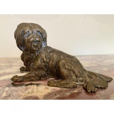 Small Dog In Bronze - XIXth