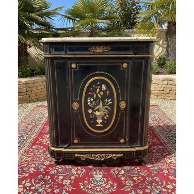 Napoleon III Cabinet With Marble Marquetry