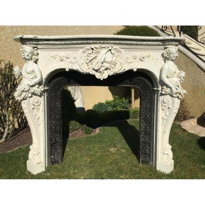 Cast Iron & Marble Fireplace At The Greek Muses