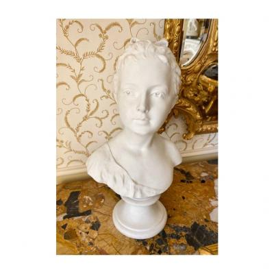 SÈvres, After Houdon, Bust In Biscuit By Louise Brongnart