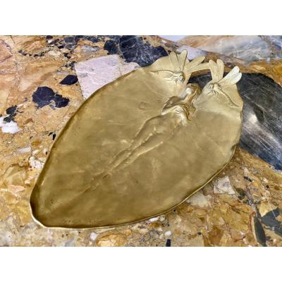 Joseph CHÉRET - Coupe / Vide-poches en Bronze Doré