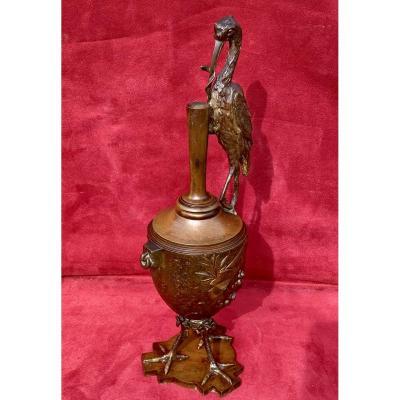 Auguste De Wever - Bronze «the Frogs Asking For A King»j. De La Fontaine