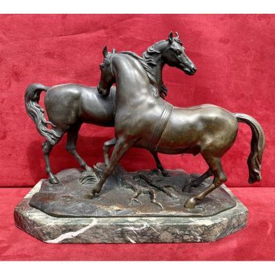 Accolade de Chevaux en Bronze