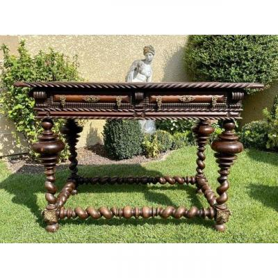 18th Century - Portuguese Rosewood & Bronze Table