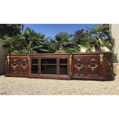 Grohe In Paris - Spectacular Rosewood Cabinet With Gilt Bronze