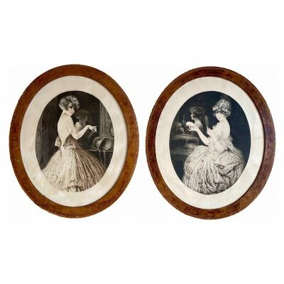 "Maurice MilliÈre - ""before And After The Dancing Night"", Pendant Of Lithographs"