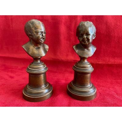 Bronzes «Jean qui Rit, Jean qui Pleure»