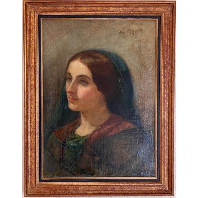 Portrait de Femme, Huile sur Toile