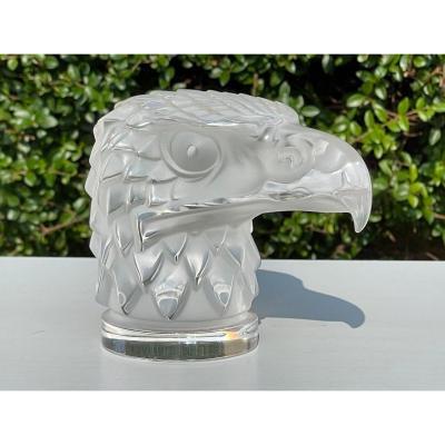 LALIQUE - Mascotte Tête D'aigle en Cristal
