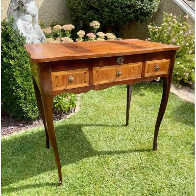 Louis XV Style Marquetry Dressing Table