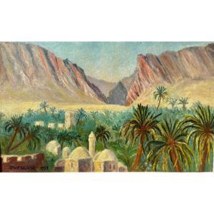 DUFRAISSE - Huile sur Toile, Paysage Marocain