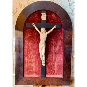 18th Century Crucifix / Christ In Ivory