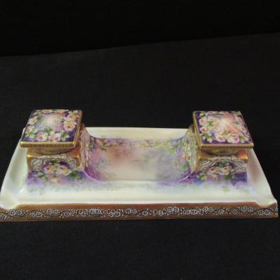 Porcelain Inkwell A.golse Late Nineteenth