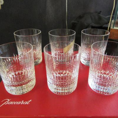 "BACCARAT ""NANCY""  6 verres à Whisky"