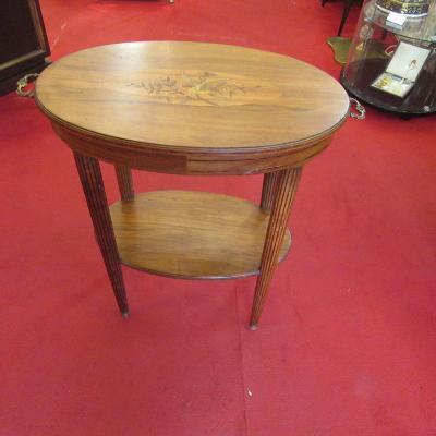 Table d'Appoint Marquetée Art Déco
