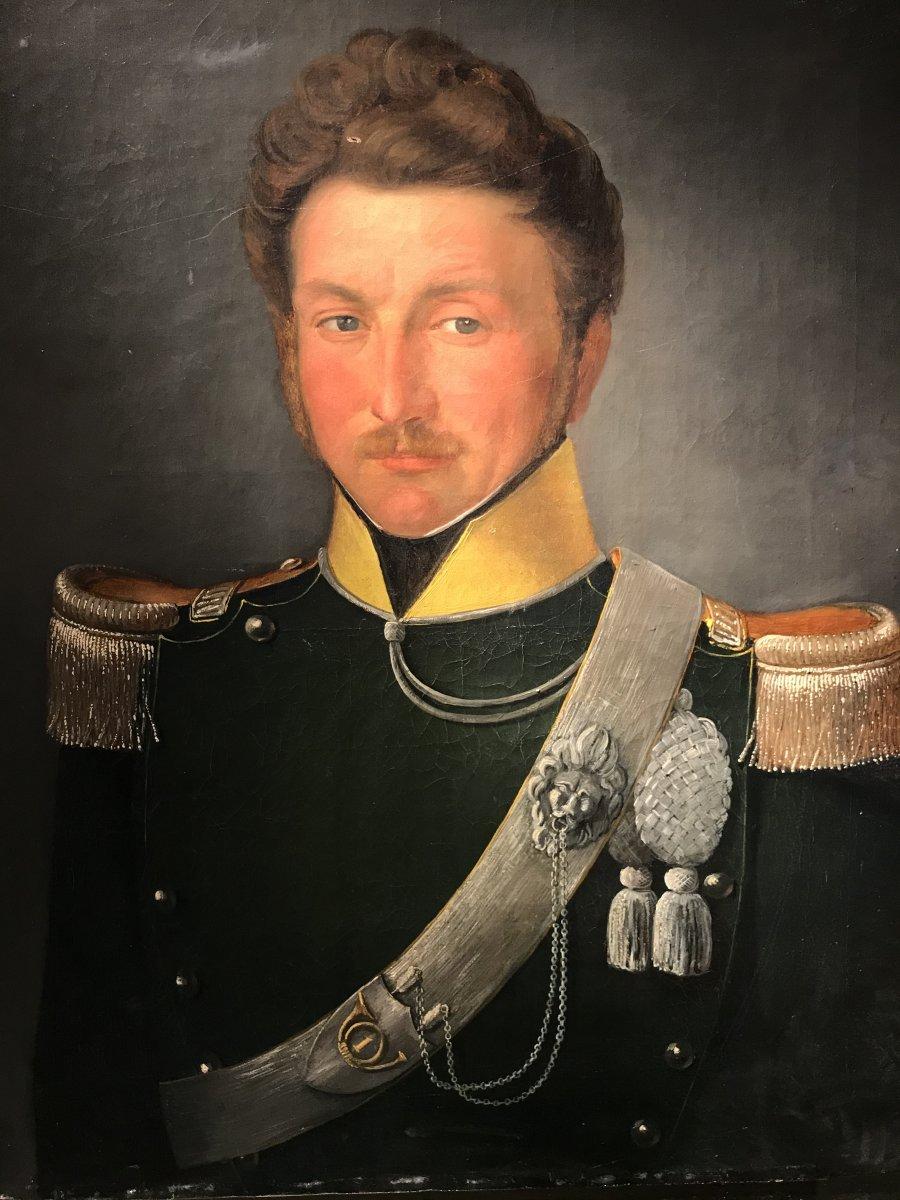 Portrait D'un Officier Du 1er Regiment Des Chasseurs à Cheval, Ca. 1850.