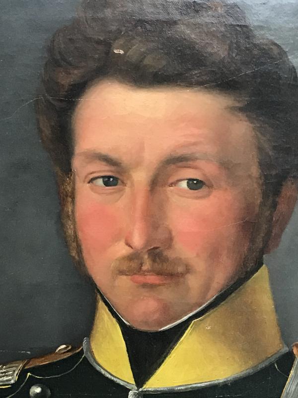 Portrait D'un Officier Du 1er Regiment Des Chasseurs à Cheval, Ca. 1850.-photo-2