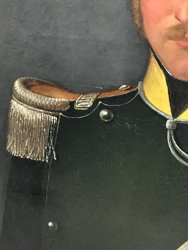 Portrait D'un Officier Du 1er Regiment Des Chasseurs à Cheval, Ca. 1850.-photo-4
