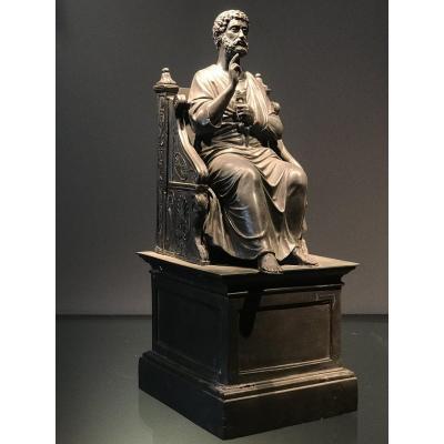 Sculpture De Saint-pierre, Italie, Ca. 1850.
