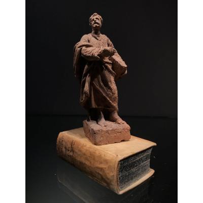 Esquisse En Terre-cuite, L'apôtre Paul, 18ième.