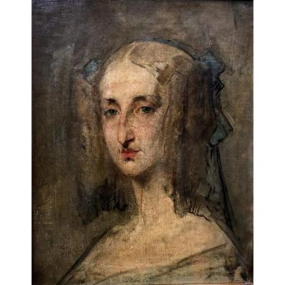 Esquisse Pour Le Portrait De Marie-amélie De Bourbon-siciles, France, Vers 1835.