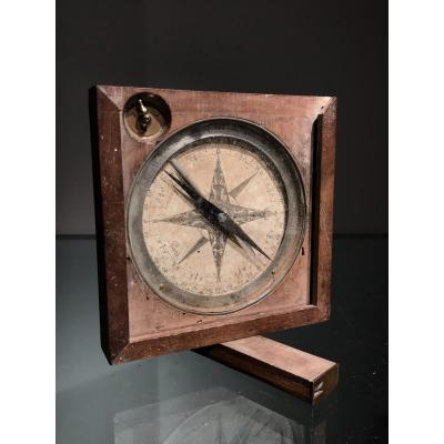 Compass By A.j. Meurand, Actif In Paris From 1750-1780, In Working Order.