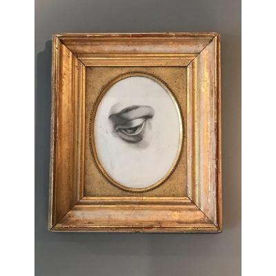 Dessin Sur Papier D'un Oeil, France, Seconde Moitié Du XIXIème.
