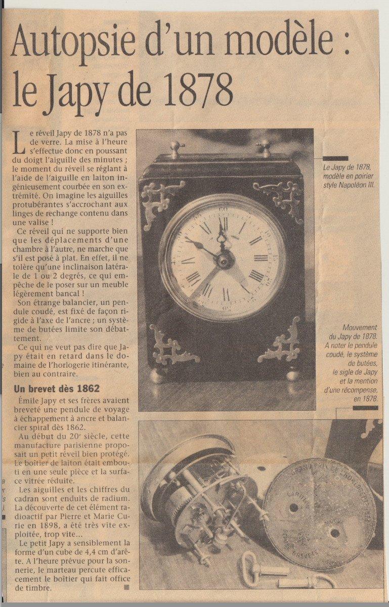 Japy Clock 1878