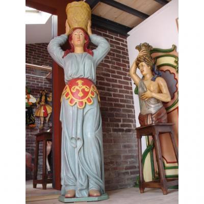 Large Man Facing Statue