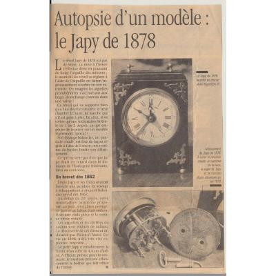 Pendulette  Japy   1878
