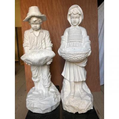Statues De Jardin En Fonte De Fer