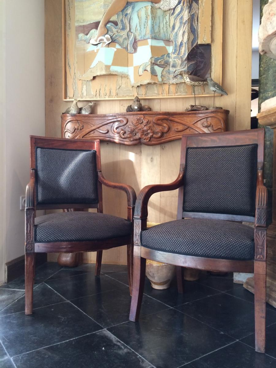 Restoration Armchairs - Mahogany