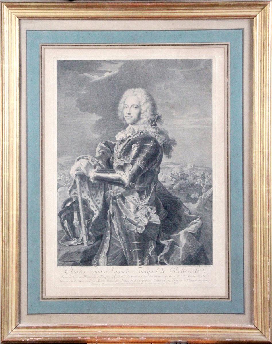 Gravure De Johann Georg Wille d'Après Hyacinthe Rigaud - Fouquet