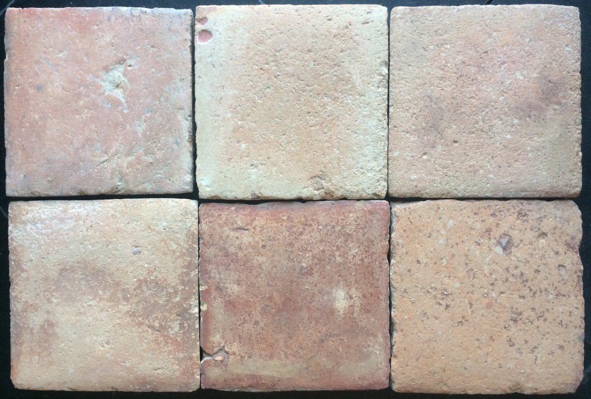Lot 20.50 M2 Of Terracotta Floor Tiles 17th 20.5x20.5 Cm
