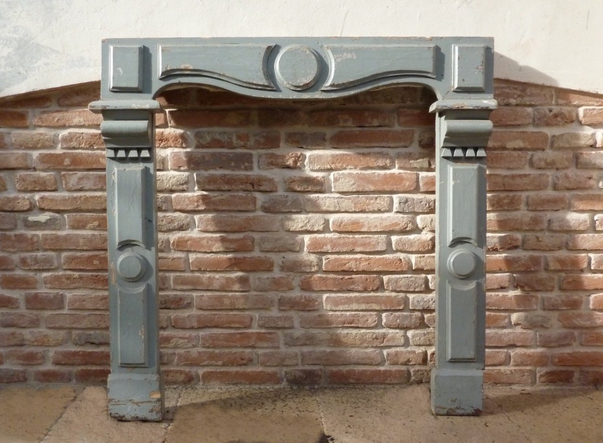 Late 19th Century Fireplace In Painted Wood