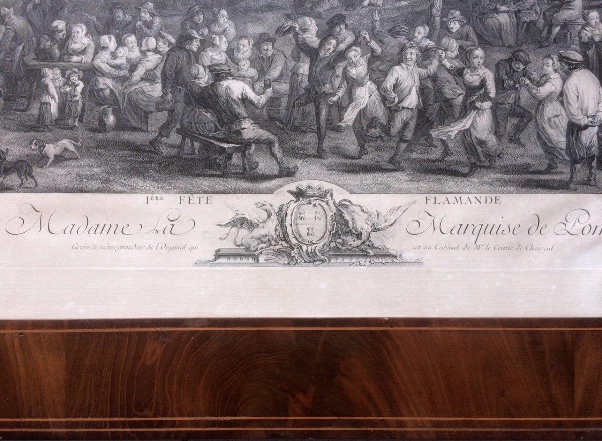 Gravure Teniers - Le Bas - Les Fêtes Flamandes-photo-3