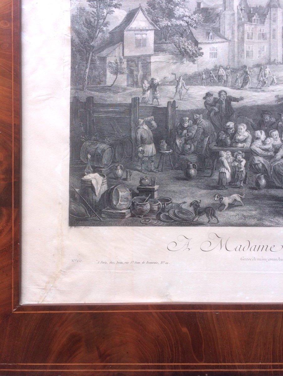 Gravure Teniers - Le Bas - Les Fêtes Flamandes-photo-1