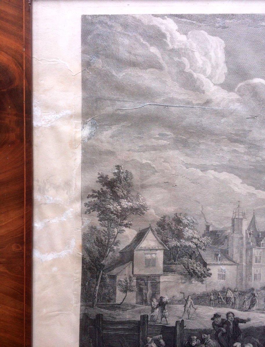 Gravure Teniers - Le Bas - Les Fêtes Flamandes-photo-2